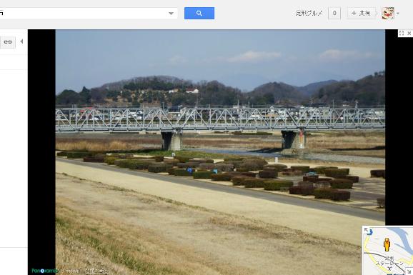 ストリートビュー渡良瀬橋