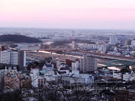 織姫公園からの足利市内の様子 & 初日の出