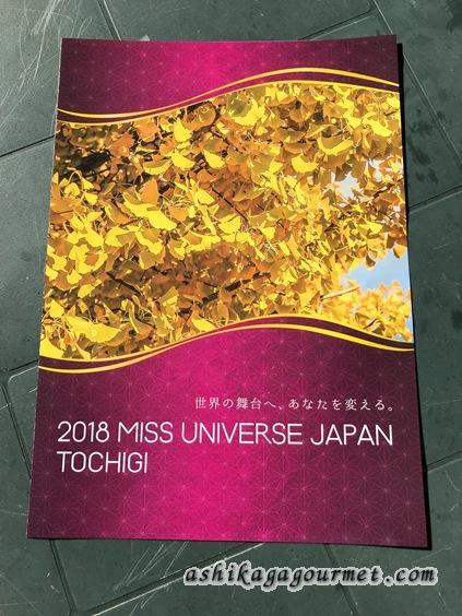 ミスユニバース栃木大会のパンフレット