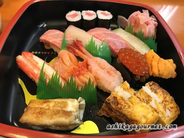足利 【たか鮨】夜でも1,000円から!安くて美味しい回転しない寿司 ★★★★